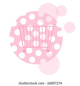 pink shopping cart
