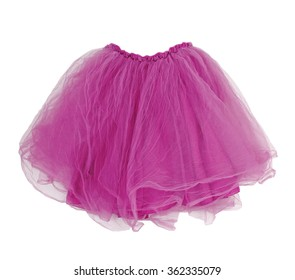 pink skirt isolated on white