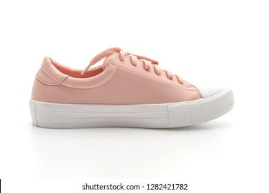 pink sneakers shoes isolated on white background