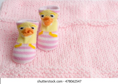 Pink socks gift set for a newborn baby girl