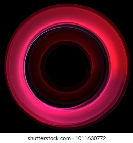 pink spinning ring neon circle light abstract
