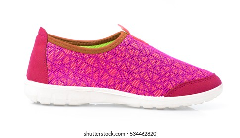 pink sport shoes  isolated on white background