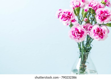 pink spring flower on wood background with copy space