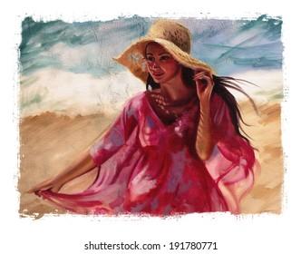 pink sundress torn edges
