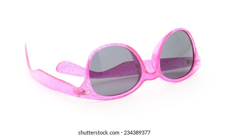 pink sunglasses isolated on a white background