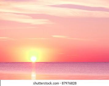 Pink Sunset Burning Down