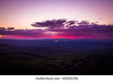 Pink Sunset in Canberra