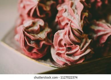 Pink tasty candies