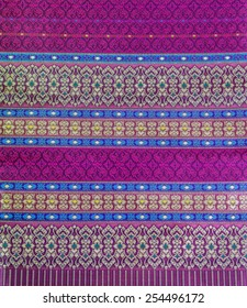 Pink Thai Silk Fabric for Abstract Background.