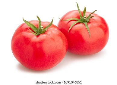 pink tomato path isolated