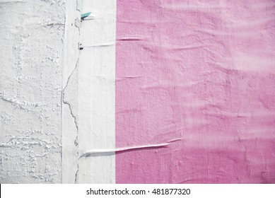 pink torn street poster background