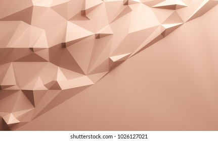Pink triangular textured lowpoly background