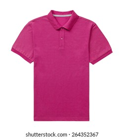 pink T-shirt isolated