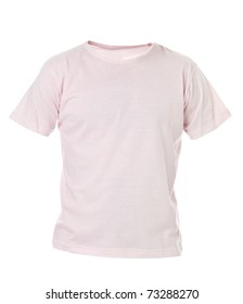 Pink T-shirt isolated on white background