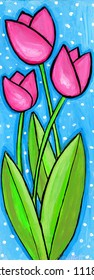 Pink Tulips painting/ illustration