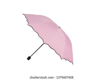 pink umbrella isolated on white background