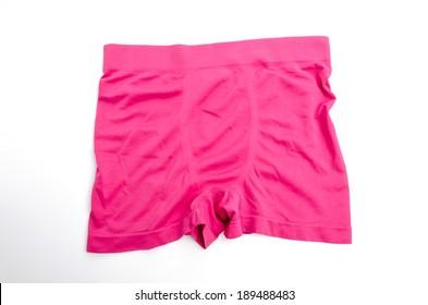 Pink underwear isolated white background
