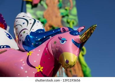Pink unicorn as a balloon
