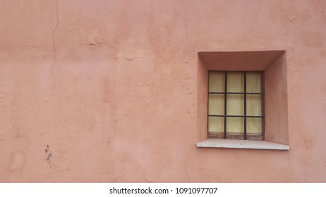 Pink wall and window