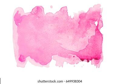 Pink watercolor spot