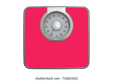 Pink Weight scales are used for health planning.