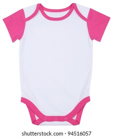 Pink and White Baby Ringer T shirt Onesie Outfit