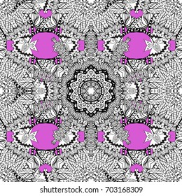 Pink and white pattern. Elegant classic pattern. Seamless abstract background with repeating elements.