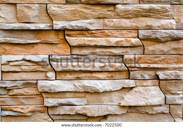 Pink and White Stacked Stone Wall, Texture Background, Horizontal