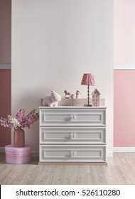 pink white wall and decorative interior design for home and children room, designs for bedroom