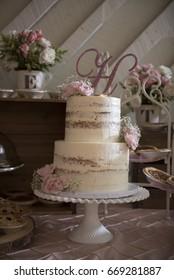 Pink and White Wedding Dessert Bar