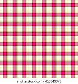 pink yellow check diamond tartan scot plaid fabric material seamless pattern texture background