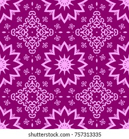 Pink and young pattern with flower