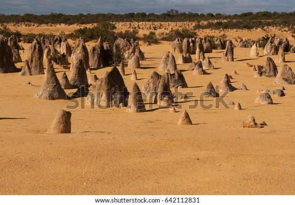Pinnacle Desert North Perth Western Australia Stock Photo