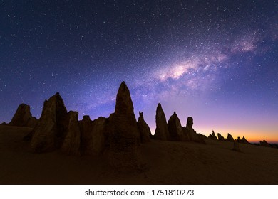 Pinnacle Desert, Western Australia, MilkyWay