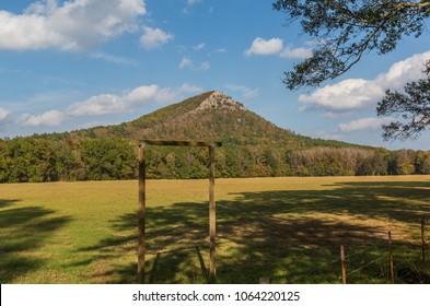 Pinnacle mountain. Little Rock, Arkansas. Blue sky. Pretty day.