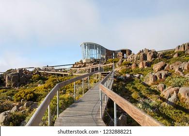 The Pinnacle Observation Point on the summit of Mount Wellington - Tasmania