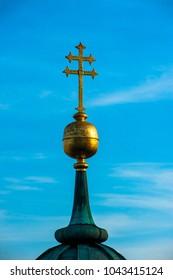 The pinnacle of the steeple
