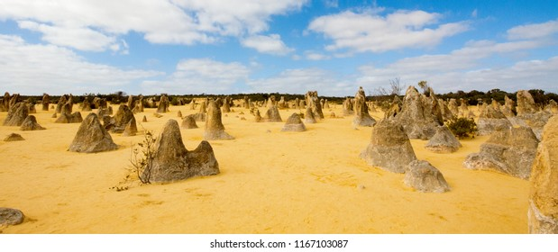The Pinnacles limestone formations in Nambung National Park, Western Australia