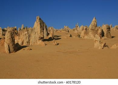 Pinnacles, natural limestone landscape features