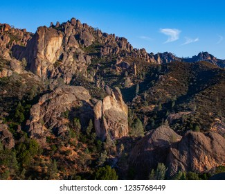The Pinnacles Rock formation at Pinnacles National Park in California. The eroded remnants of an extinct volcano.