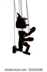 Pinocchio puppet  silhouette