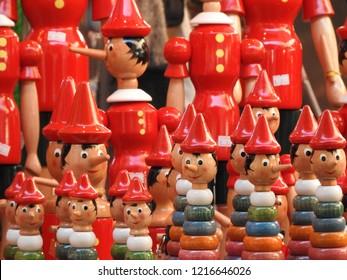 Pinocchio, wood toys