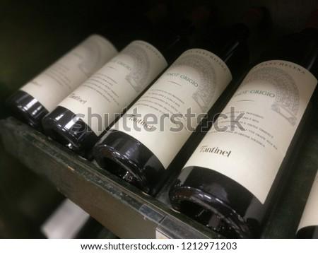 Pinot Grigio Grey Bottles Italian Wine Stock Photo (Edit Now