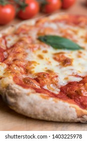 Pinsa romana. Typical pizza of Rome, Italy. A modern take on the ancient Roman pizza. Tasty, light and fragrant made with the best organic ingredients.
