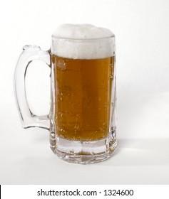 Pint of Amber Ale Draft Beer