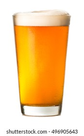 Pint of Amber Ale on White