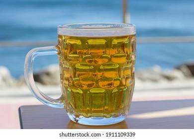 Pint of beer with Ocean view