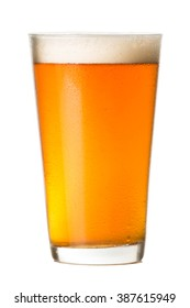 Pint glass of Pale Ale Beer isolated on White background