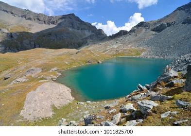 Pinter lakes, Valle d'Aosta, Italy