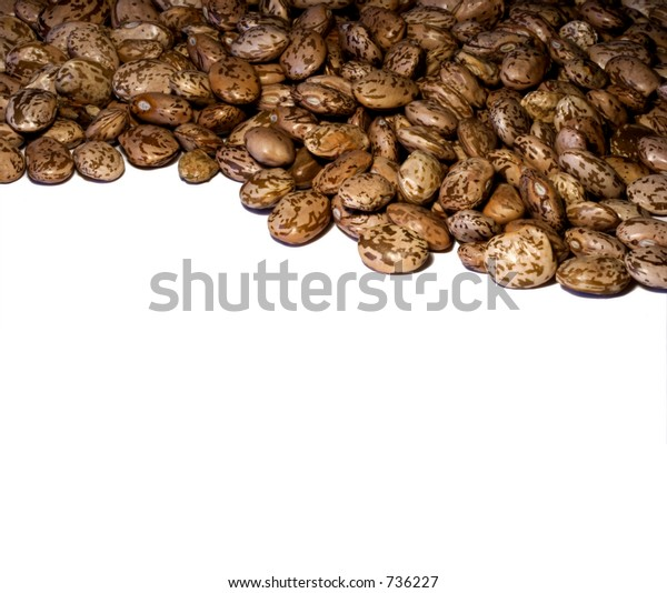 Pinto beans across the top of image with space below for text.